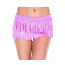 Music Legs Fringed Mini Skirt - One size