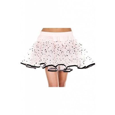 Music Legs Stars Print Design Mesh Petticoat