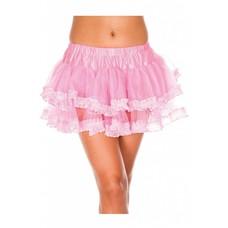 Music Legs Lace Trim Mesh Petticoat