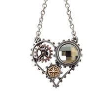 Alchemy England 1977 Coeur du Moteur Necklace