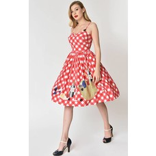Unique Vintage Picnic Blanket Darcy Dress