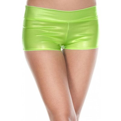 Music Legs Neon Green Booty Shorts with Waistband