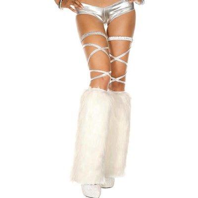 Music Legs Faux Fur White Fluffies