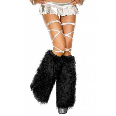 Music Legs Faux Fur Black Fluffies
