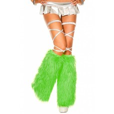 Music Legs Faux Fur Kelly Green Fluffies