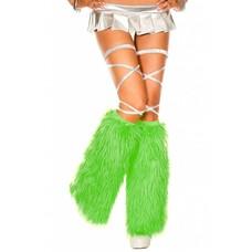 Music Legs Faux Fur Kelly Green Fluffies