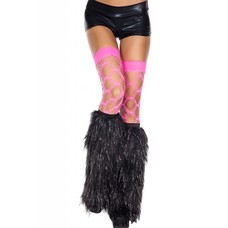 Music Legs Furry Lurex Black Fluffies