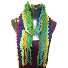 c45ae6a0291fb Yelete Multi Ruffle Knit Purple-Blue-Green Scarf