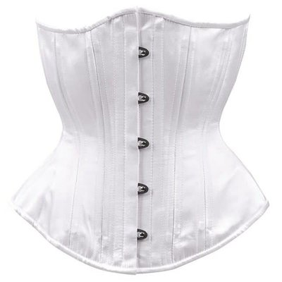 Timeless Trends White Bridal Hourglass Corset