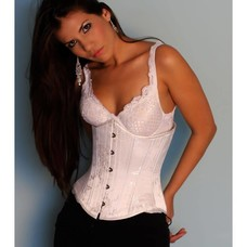 Timeless Trends White Floral Corset