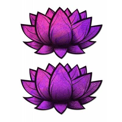 Pastease Lotus: Holographic Pink Lotus Nipple Pasties