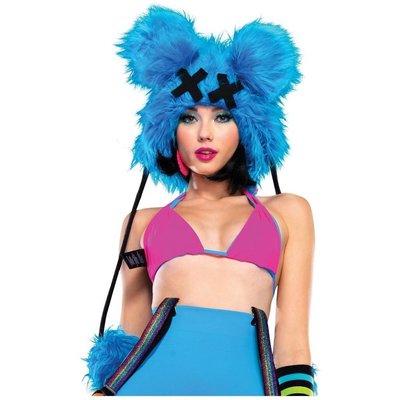 Leg Avenue Dead Mouse Furry Hood w/ Poms
