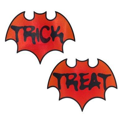 Pastease Vamp: Blood Orange Halloween Trick or Treat Bat Nipple Pasties