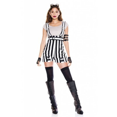 Music Legs Steampunk Fantasy Outfit 5pc. B/W