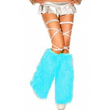Music Legs Faux Fur Turquoise Fluffies