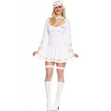 Music Legs First Class Air Crew White Uniform - 1X/2X