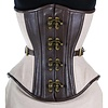 Timeless Trends Brown Leather Steampunk Corset