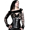 Timeless Trends Hard Black Leather Corset