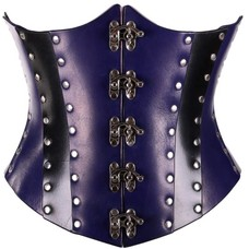Timeless Trends Hard Purple Leather Corset