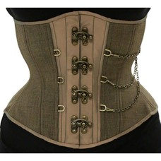 Timeless Trends Plaid Chained Hourglass Corset