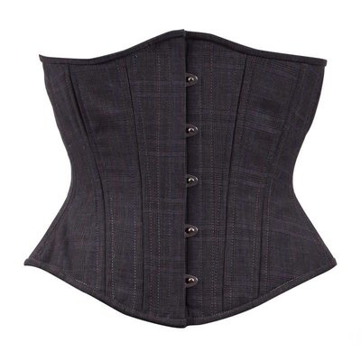 Timeless Trends Tweed Plaid Grey Corset