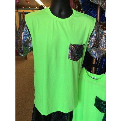 Sea Dragon Studio Mens Festival Tshirt, Disco Brawl/Lime