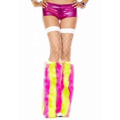 Music Legs Vertical Striped Faux Fur Fluffies