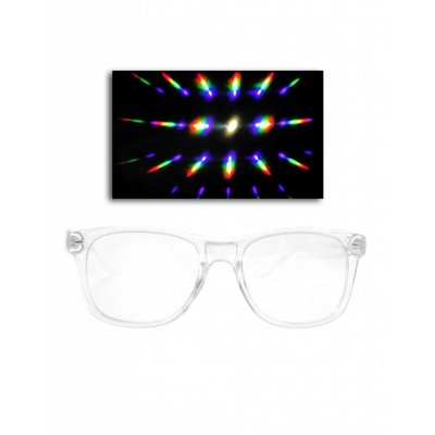 EmazingLights Transparent Clear Diffraction Glasses