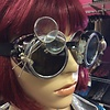 Silver Goggles w/ Dbl Lens Loupe & Watchband Surround (284)
