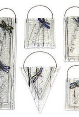 Dichroic Dragonfly Wall Vase