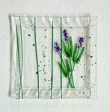 Lavender Square Plate