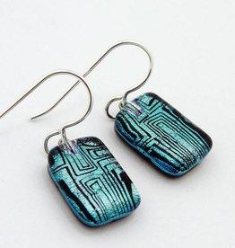 Maze, Lined Earrings