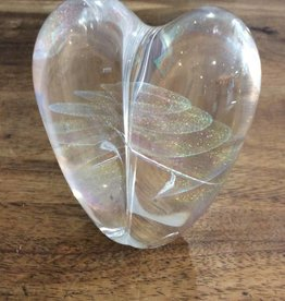 Heart Paperweight Iridescent