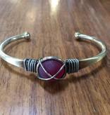 Seaglass Cuff Bracelet