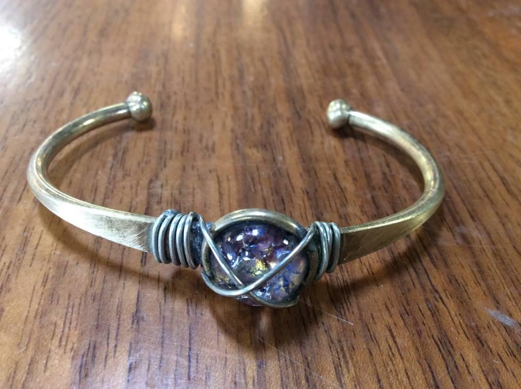 Crackle Cuff Bracelet