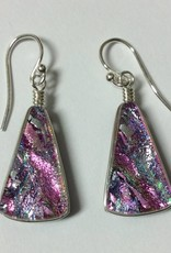 Fan Drop Dichroic Earrings