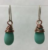 Copper Mermaid Tear Earrings