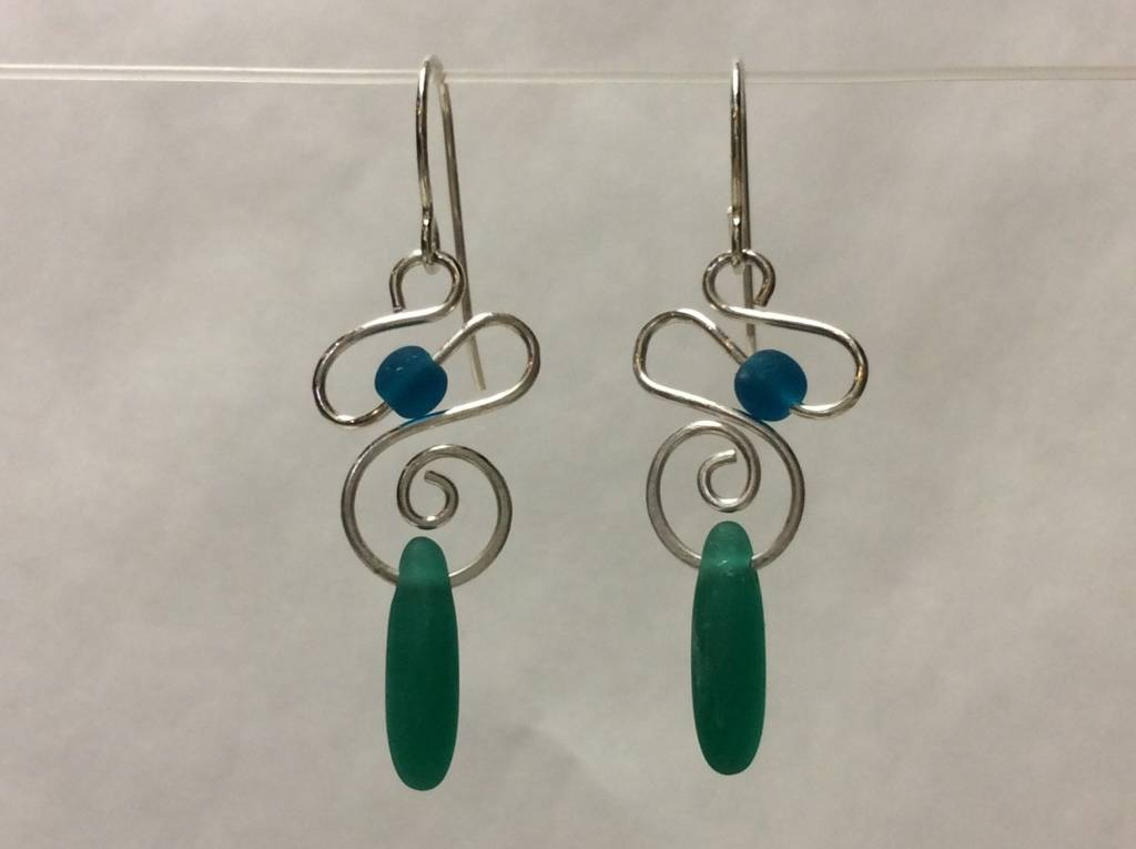 Spiral Mermaid Tear Earrings
