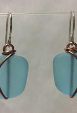 Copper Sunburst Bead Earrings