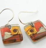 Santa Fe Snail Cube Earrings