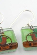 Ovenbirds Square Earrings