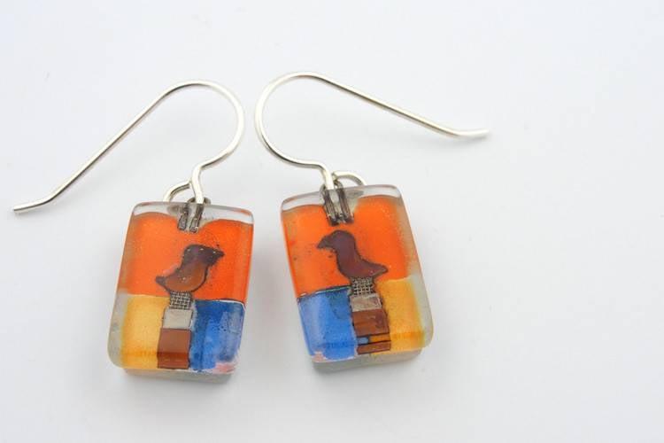 Santa Fe Bird Drop Earrings