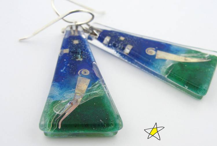 Afloat Large Triangle Earrings