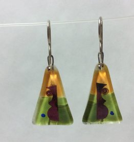 Picasso's Easter Island Medium Triangle Earrings