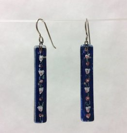 Cherry Blossoms Large Bar Earrings