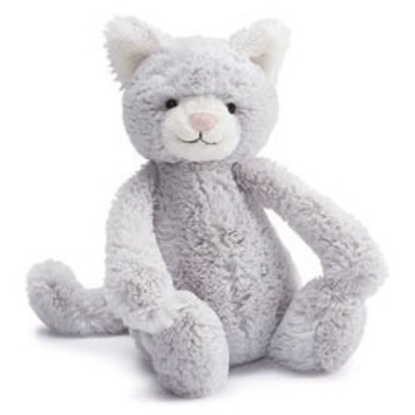 "Bashful Kitty, Grey - Medium (12"")"