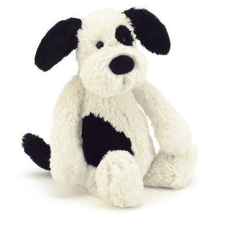 """Bashful Puppy, Black & Cream - Small (7"""")"""