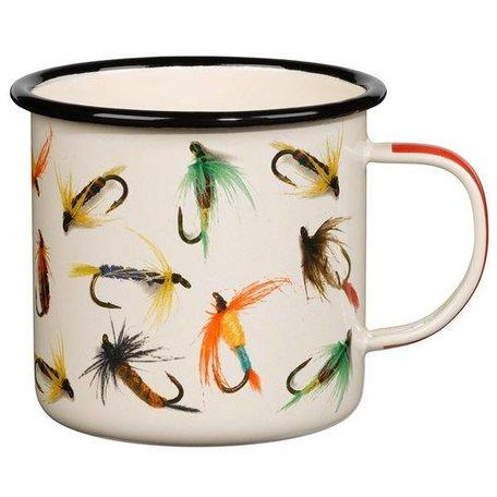 Hook Line & Sinker Cream Enamel Mug