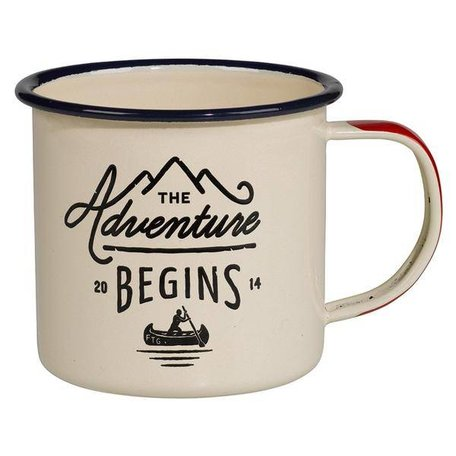 Adventure Begins Enamel Mug