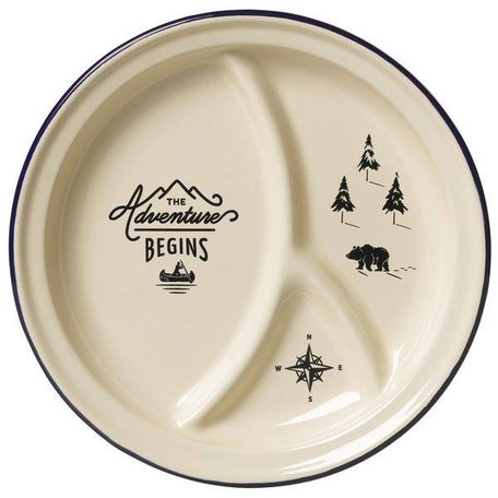 Adventure Begins Divided Enamel Plate
